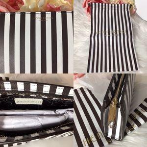 Henri Bendel Centennial Stripe Small Cosmetic Bag